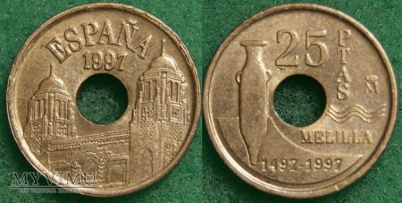 Hiszpania, 25 PESETAS 1997