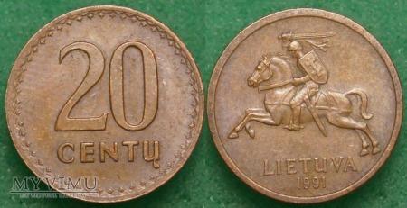 Litwa, 20 Centų 1991