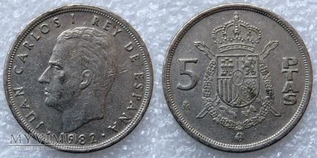 Hiszpania, 5 PTAS 1982