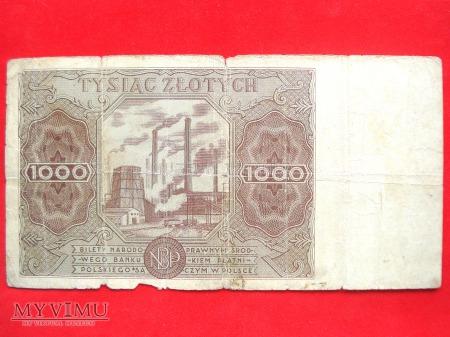 1000 złotych 1947 rok