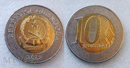 Angola, 10 Kwanzas 2012
