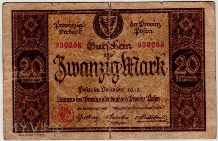 11.1918 - 20 Mark - Provinz Posen