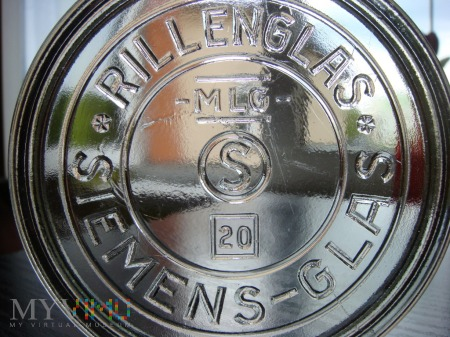 Pokrywka *SIEMENS-GLAS - MLG- S 20 RILLENGLAS*