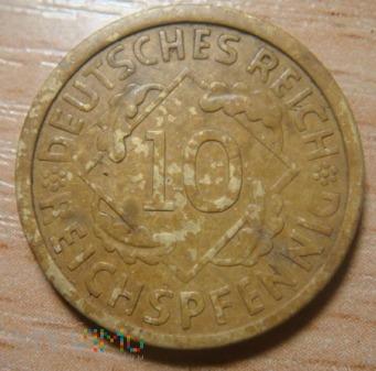 10 pfennig 1925 A Niemcy ,Republika Weimarska