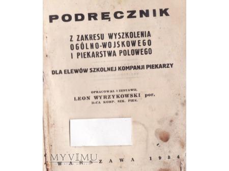 Podręcznik wojskowy z 1934