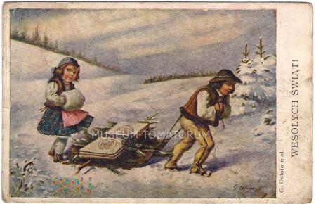 Wesołych Świąt - G. Ostoja - 1932