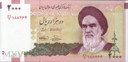 IRAN 2000 RIALS 2005