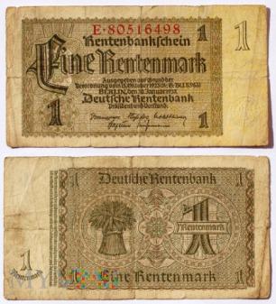 Niemcy, 1 rentenmarka 1937r