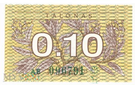 Litwa - 0.1 talona (1991)