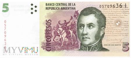 Argentyna - 5 pesos (2013)