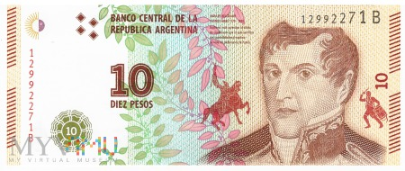 Argentyna - 10 pesos (2016)