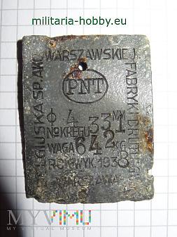 Tabliczka z fabryki drutu Warszawa