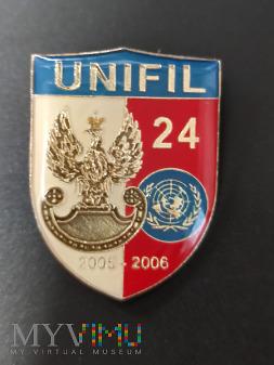Pamiątkowa odznaka 24 zmiany UNIFIL - Liban