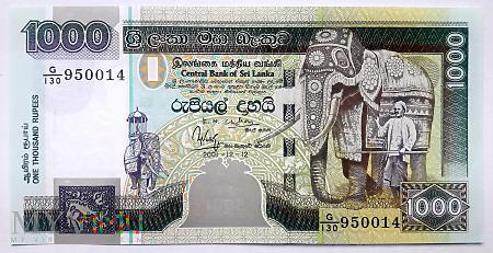 SRI LANKA 1000 rupii 2001