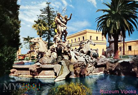 Katania - fontanna: Porwanie Prozerpiny