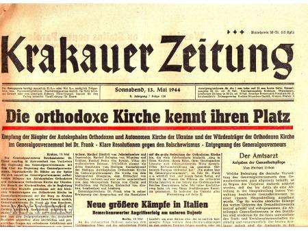 Krakauer Zeitung (13 V 1944)