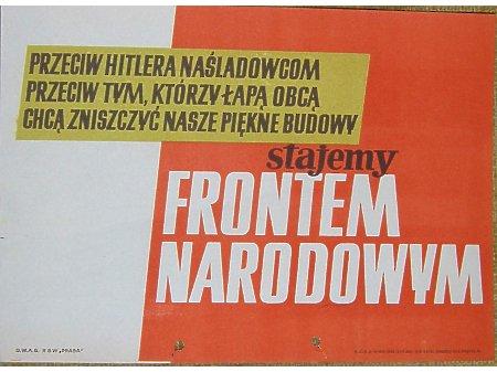 Duże zdjęcie Ulotka Frontu Narodowego 1952 rok