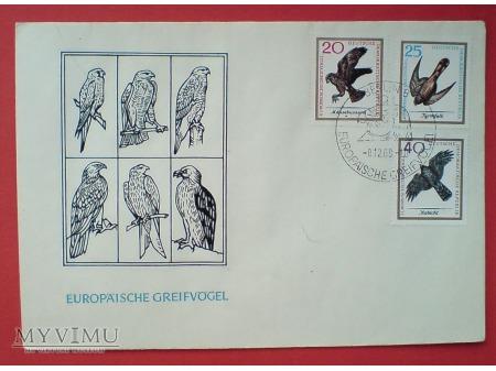1965 Koperata znaczki Jastrząb PUSTUŁKA Myszołów