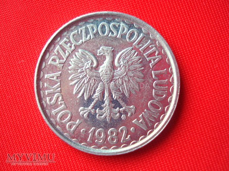 Duże zdjęcie 1 złoty 1982 rok