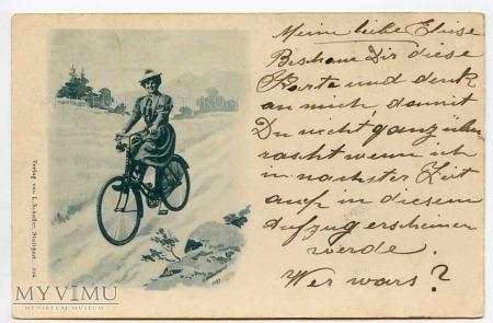 Dama na rowerze 1898