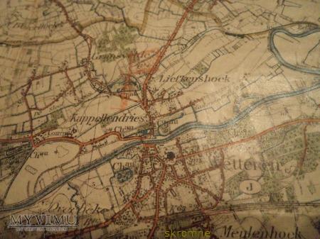 belgijska mapa wojskowa Gand i okolica