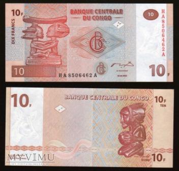 Congo - P 93 - 10 Francs - 2003