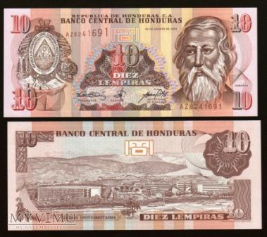 Honduras - P 86 - 10 Lempiras - 2001