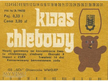 Kwas Chlebowy - napój gazowany. Import z ZSRR.
