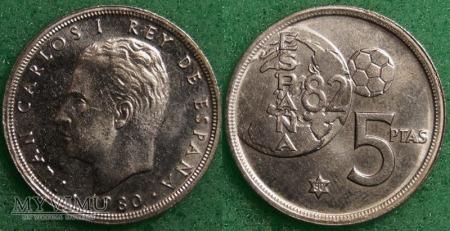 Duże zdjęcie Hiszpania, 5 PTAS 1980