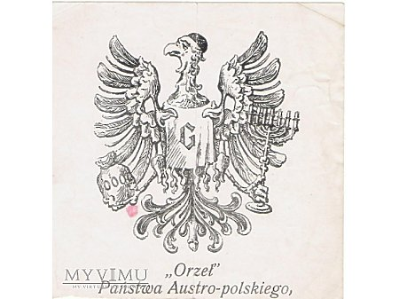 Ulotka antyżydowska z zaboru austriackiego.