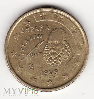 Hiszpania 50 centów 1999 Cervantes