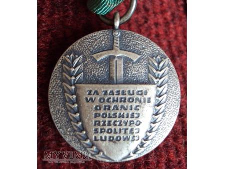 """Odznaka """"Za Zasługi w Ochronie Granic PRL"""""""