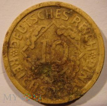 10 REICHSPFENNIG 1934 D - Monachium