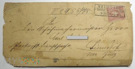 List z Neustadt 1878 roku