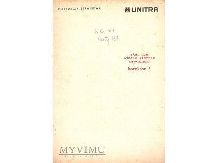 Instrukcja serwisowa gramofonu WG-401