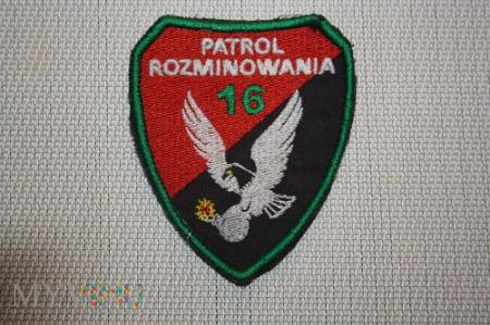16 patrol rozminowania.