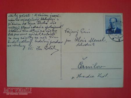 1953 ARS CATHOLICA gołębie Czechosłowacja