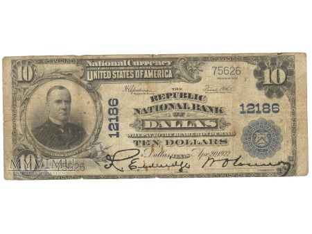 10 USD 1902 DALLAS