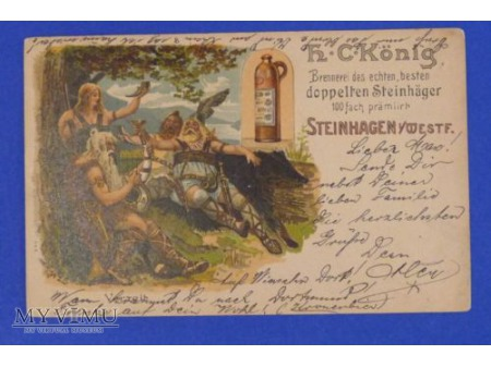 Stara pruska-niemiecka butelka