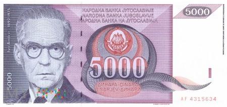 Jugosławia - 5 000 dinarów (1991)