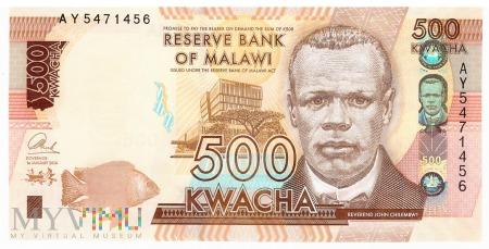Malawi - 500 kwacha (2014)
