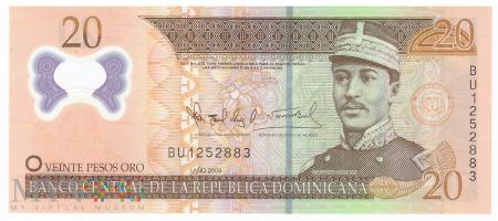Dominikana - 20 pesos oro (2009)