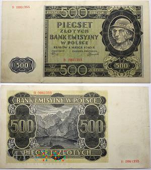 Duże zdjęcie 500 zł 1940