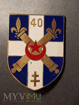 Odznaka 40 Pułku Artylerii - Francja /wersja/