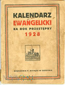 Kalendarz Ewangelicki 1928