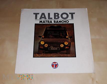 Duże zdjęcie Prospekt Talbot Matra Rancho 1979