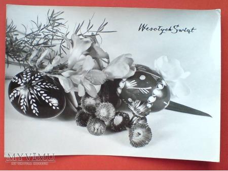 Wielkanoc 1970 życzenia PRL symbole świąteczne