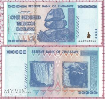 100 000 000 000 000 dolarów- Zimbabwe