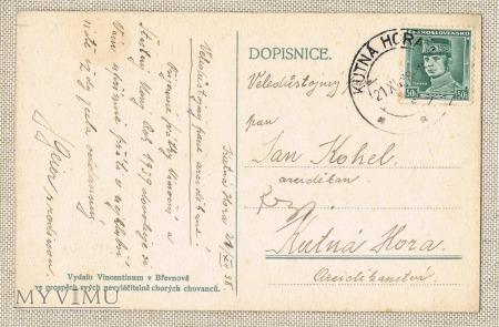 21.12.1938 pocztówka czechosłowacka
