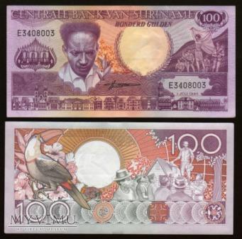 Surinam - P 133a - 100 Gulden - 1986